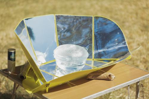 Four solaire, 130 gramme pour faire cuir des oeufsCrédit photo : Frederic Blanc